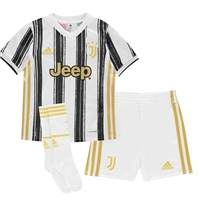 Adidas JUVENTUS HOME MINI KIT 20/21 - WHITE/BLACK/GOLD