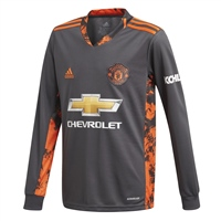 Adidas MANCHESTER UTD GK JERSEY 20/21 - KIDS - GREY/ORANGE