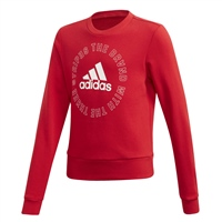 Adidas KIDS BOLD CREW SWEATSHIRT - RED