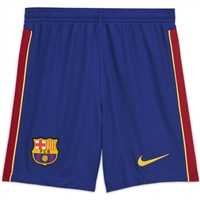 Nike BARCELONA FCB HOME SHORTS 20/21 - KIDS - ROYAL/BURGUNDY