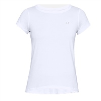 Under Armour WOMENS HEATGEAR ARMOUR SHORT SLEEVE TEE - WHITE