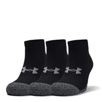 Under Armour ADULT HEATGEAR LO CUT SOCKS (3PK) - BLACK