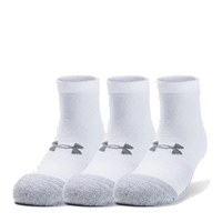 Under Armour ADULT HEATGEAR LO CUT SOCKS (3PK) - WHITE