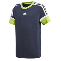 Adidas BOYS BOLD T-SHIRT - NAVY/GREEN