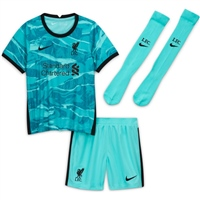 Nike LIVERPOOL  AWAY MINI KIT 20/21 - KIDS - HYPER TURQUOISE/BLACK