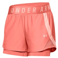 Under Armour WOMENS PLAY 2-IN-1 SHORTS - ORANGE