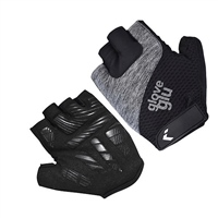 Glove Glu Gel Ride Half Finger Cycling Gloves - BLACK/GREY