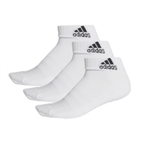 Adidas CSHIONED ANKLE SOCK (3PK) - WHITE
