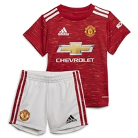 Adidas MANCHESTER UTD BABY HOME KIT 2020 - RED/WHITE