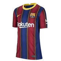 Nike BARCELONA FC HOME JERSEY 2020 - KIDS - ROYAL/BURGUNDY