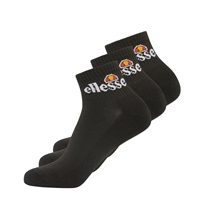 Ellesse RALLO ANKLE SOCK -3 PACK - BLACK