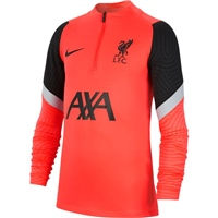 Nike LIVERPOOL FC STRIKE DRILL TOP - KIDS - CRIMSON/BLACK/GREY