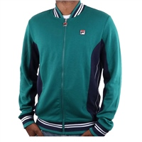 Fila MENS SETTANTA BASEBALL JACKET - GREEN