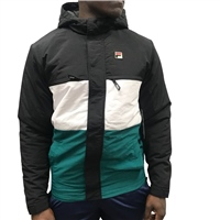 Fila MENS RAUL COLOUR BLOCK JACKET - GREEN/WHITE/BLACK