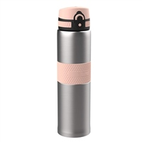 Ion8 THERMAL WATER BOTTLE - 480ML - SILVER/PINK