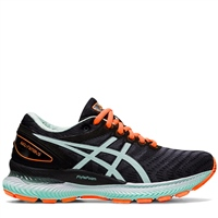 Asics Womens Gel Nimbus 22 - BLACK/BIO MINT