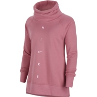 Nike WOMENS GET FIT FUNNEL CREW NECK - PINK