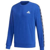 Adidas MENS ESSENTIALS TAPE SWEATSHIRT - ROYAL