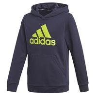 Adidas BOYS MUST HAVE BOS PULLOVER HOODIE - NAVY/GREEN
