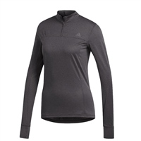 Adidas WOMENS OWN THE RUN 1/2 ZIP LS TEE - GREY