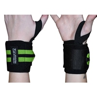 UFE Urban Fitness WRIST SUPPORT WRAPS - BLACK/GREEN
