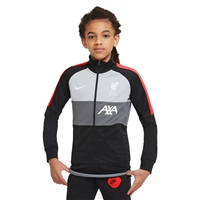 Nike KIDS LIVERPOOL ANTHEM TRACK JACKET - GREY/BLACK