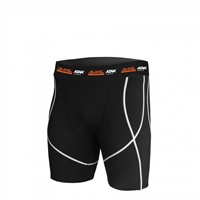 ATAK Sports COMPRESSION SHORTS - YOUTH - BLACK/WHITE