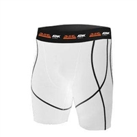 ATAK Sports COMPRESSION SHORTS - YOUTH - WHITE/BLACK