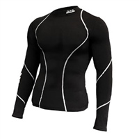 ATAK Sports COMPRESSION TOP - YOUTH - BLACK/WHITE