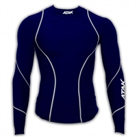 ATAK Sports COMPRESSION TOP - YOUTH - NAVY/WHITE