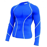 ATAK Sports COMPRESSION TOP - YOUTH - ROYAL/WHITE