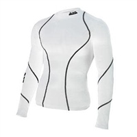 ATAK Sports COMPRESSION TOP - YOUTH - WHITE/BLACK
