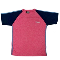 Briga ERRIGAL T-SHIRT - GIRLS - MELANGE PINK/NAVY/SKY