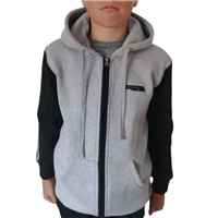 Briga ERRIGAL FULL ZIP HOODIE - KIDS - HEATHER GREY/BLACK/GREY