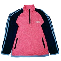 Briga GIRLS ERRIGAL HALF ZIP TOP - MELANGE PINK/NAVY/SKY