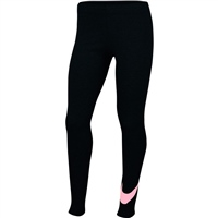 Nike GIRLS FAVORITES SWOSH TIGHT - BLACK/PINK