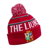 Canterbury BRITISH & IRISH LIONS LINED BOBBLE HAT - A TANGO RED