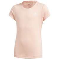Adidas GIRLS TRAINING AERO T-SHIRT - CORAL/WHITE