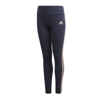 Adidas GIRLS 3 STRIPES TIGHT - BLACK/CORAL