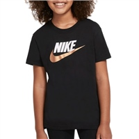 Nike GIRLS BASIC FUTURA T-SHIRT - BLACK/GOLD