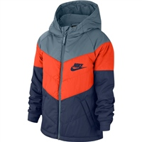 Nike CHILDRENS NSW SYNTHETIC FILL JACKET - NAVY / ORANGE