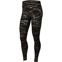 Nike WOMENS ICON CLASH FAST TIGHT - BLACK/GOLD