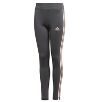 Adidas GIRLS TR 3 STRIPE TIGHTS - GREY/CORAL