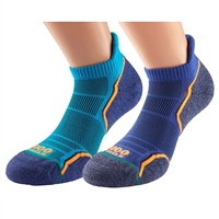1000 Mile MENS RUN SOCKLET (TWIN PACK) - BLUE/BLUE