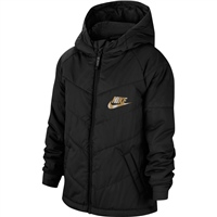 Nike CHILDRENS NSW SYNTHETIC FILL JACKET - BLACK/GOLD