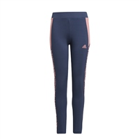 Adidas GIRLS DESIGNED TO MOVE LEOPARD LEGGINGS - NAVY/PINK