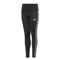 Adidas GIRLS GLAM ON AEROREADY LEGGINGS - BLACK/WHITE