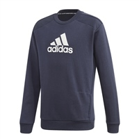 Adidas BOYS BADGE OF SPORT SWEATSHIRT - NAVY/WHITE