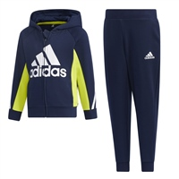 Adidas LITTLE KIDS TRACKSUIT - NAVY/YELLOW