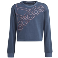 Adidas GIRLS LOGO SWEATSHIRT - NAVY
